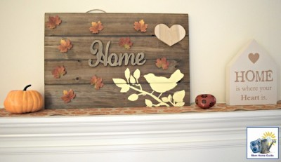 DIY wooden pallet sign for fall and autumn
