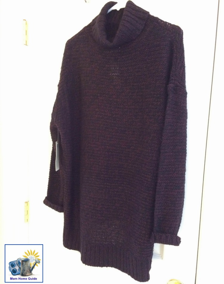 Burgundy Jolee Turtle Neck Sweater by RD Style