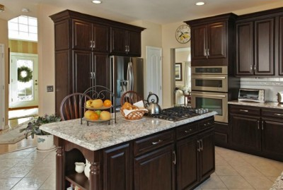 Budget kitchen remodel with refaced kitchen cabinets and cambria quartz countertops