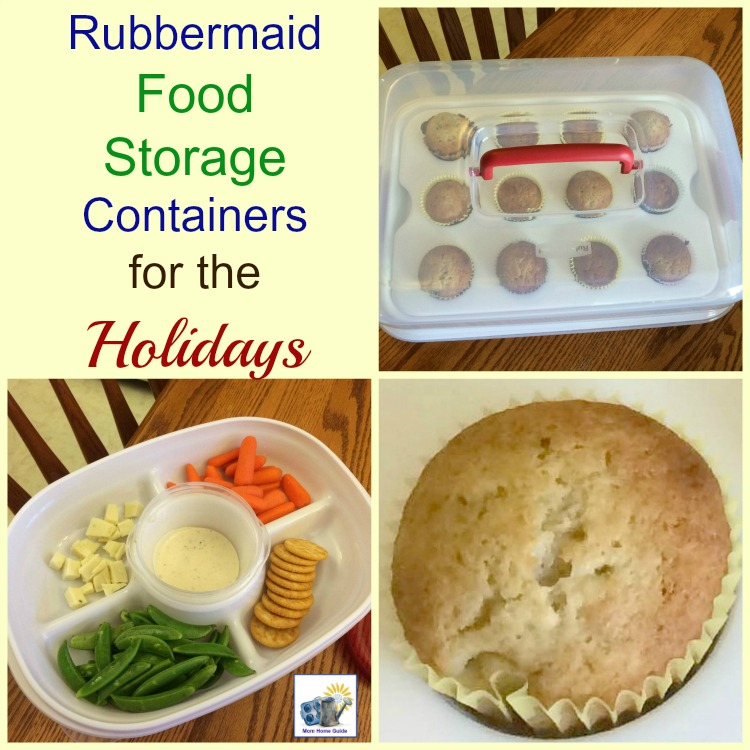 I love my Rubbermaid food storage containers for the holidays