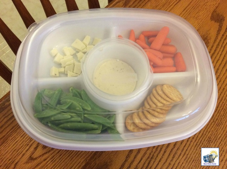 I like using my Rubbermaid Party Platter for transporting veggies and dip and cheese and crackers.