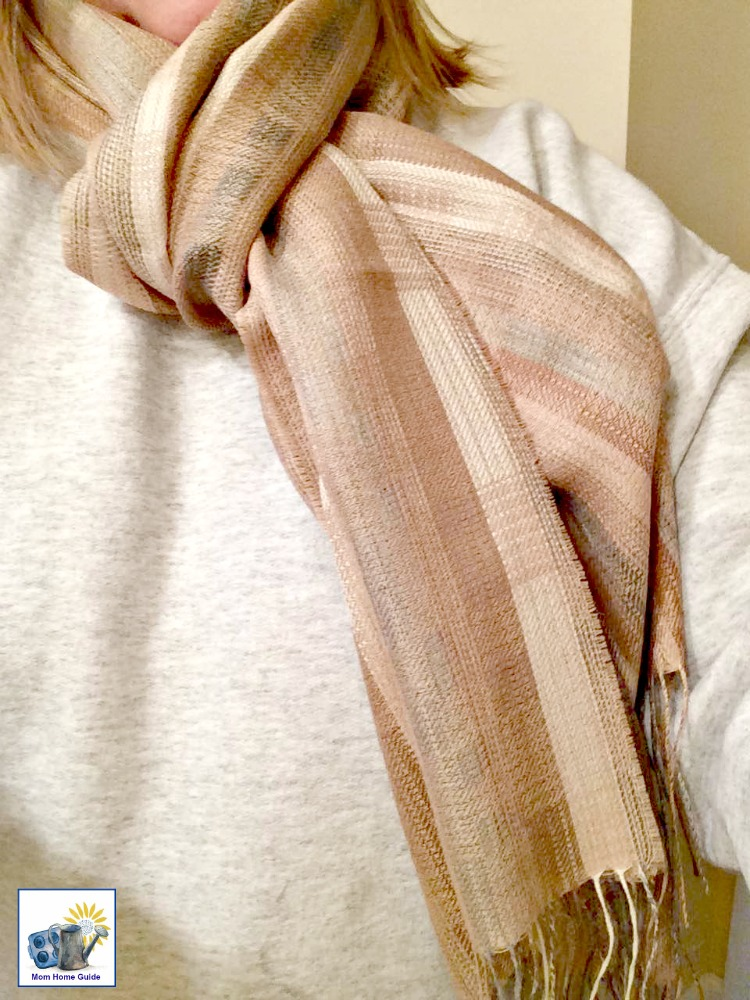 My Sol Alpaca scarf is warm without being bulky -- it's made from baby Alpaca fibers!