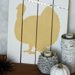 Holiday Craftacular: Thanksgiving Turkey Pallet Sign
