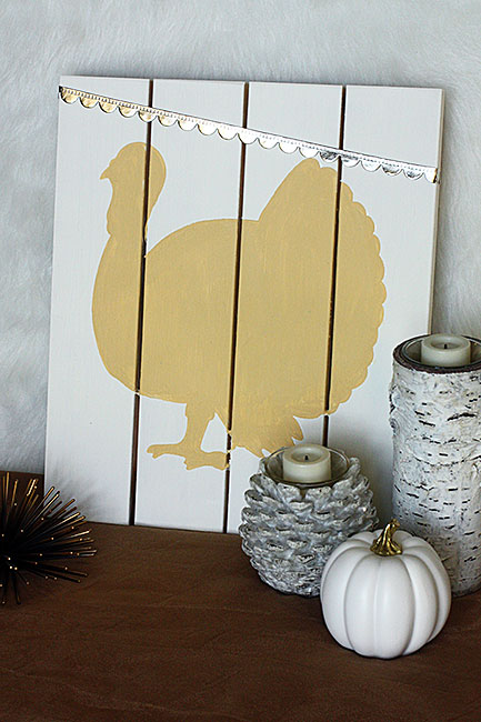 DIY turkey pallet sign