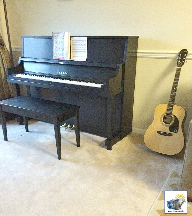 New Epiphone guitar and Yamaha piano