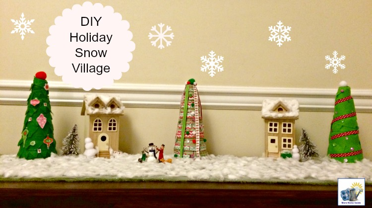 A simple and inexpensi ve DIY holiday snow village for Christmas! I always wanted one of these!