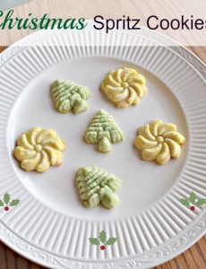 Recipe for making easy spritz cookies for Christmas!