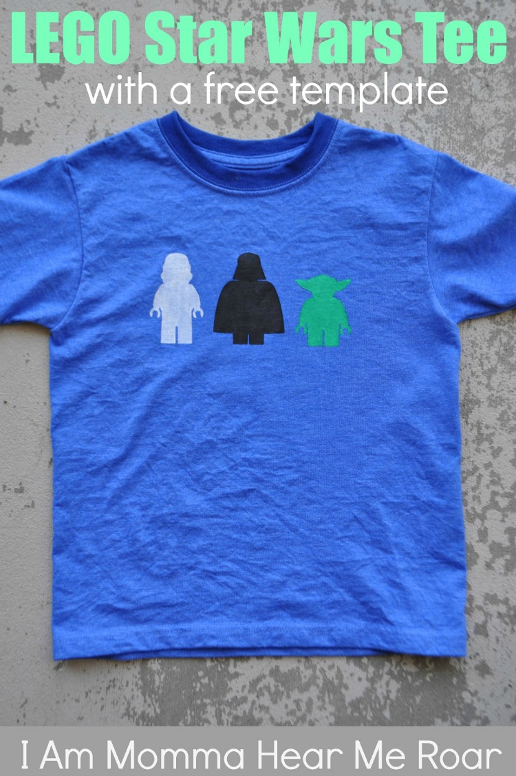 Star Wars T-Shirt that can be made with a free stencil!