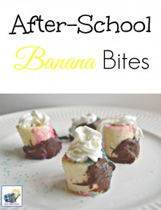 Banana bites are a quick, easy and fun to make after school treat