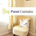 Holiday Craftacular: Easy Panel Curtains & Linky Party