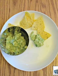 A bowl of homemade guacamole