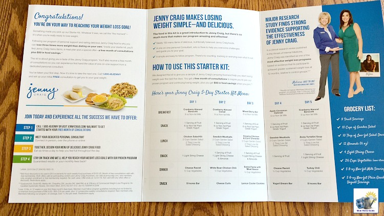 Jenny Craig 5 Day Weight Loss Kit Menu