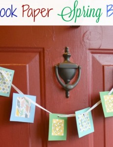 A pretty spring banner made with scrapbook paper