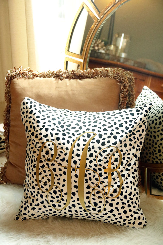 monogrammed envelope pillow covers by Curly Crafty Mom