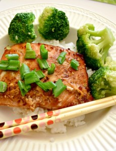 Teriyaki Salmon and Broccoli