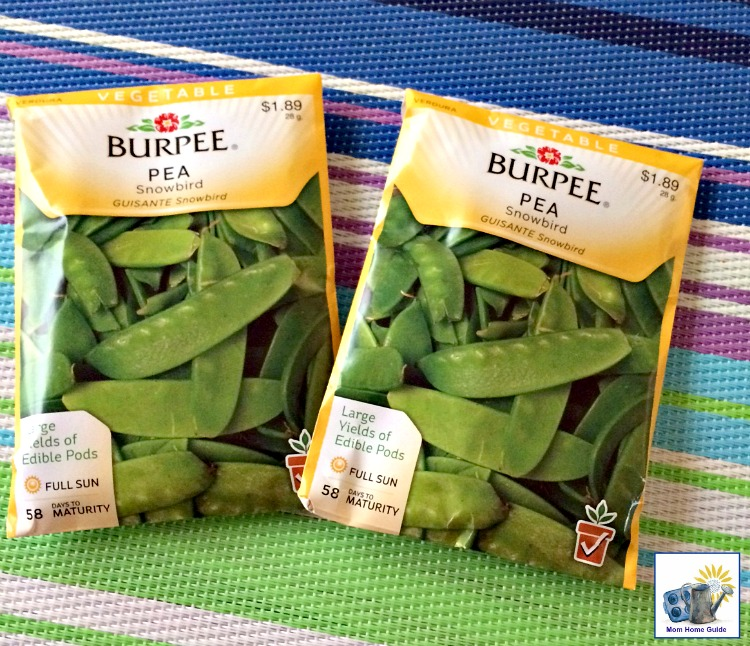 Burpee pee seeds are great for growing peas