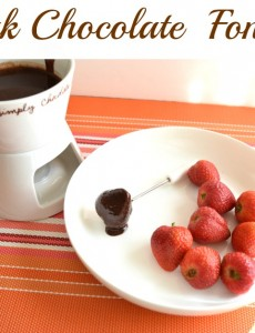 easy chocolate fondue recipe