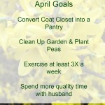 April Monthly Goals