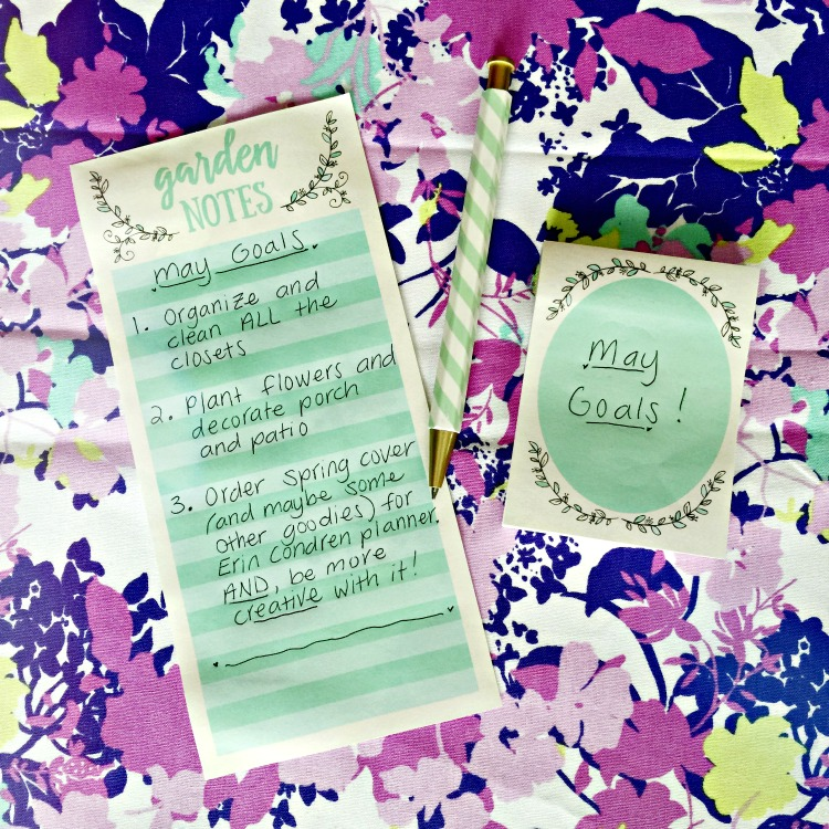 Carrie of Curly Crafty Mom's goals for May