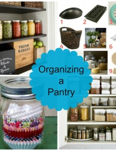 Great tips for organizing a pantry!