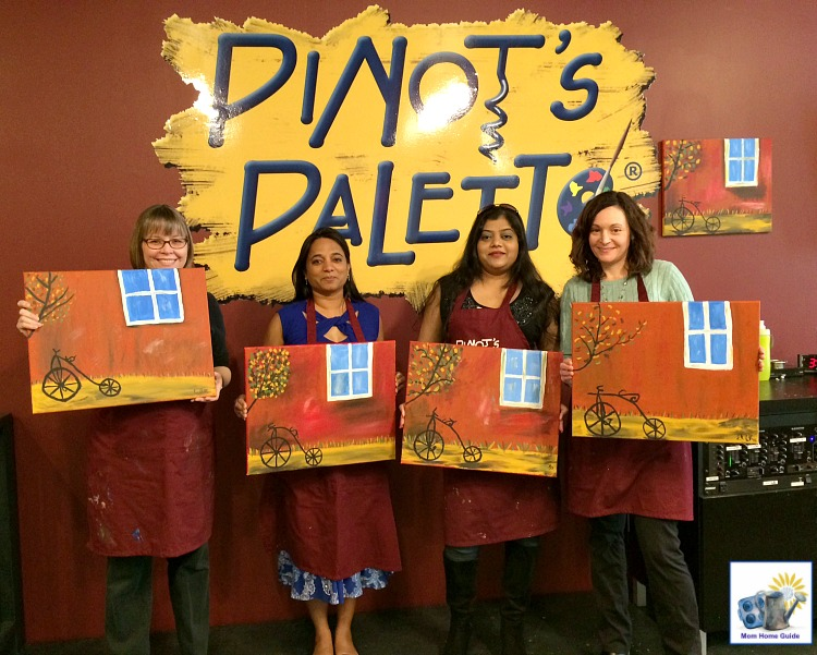 pinot's palette painting class in princeton