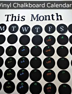Easy to put up and use vinyl chalkboard calendar