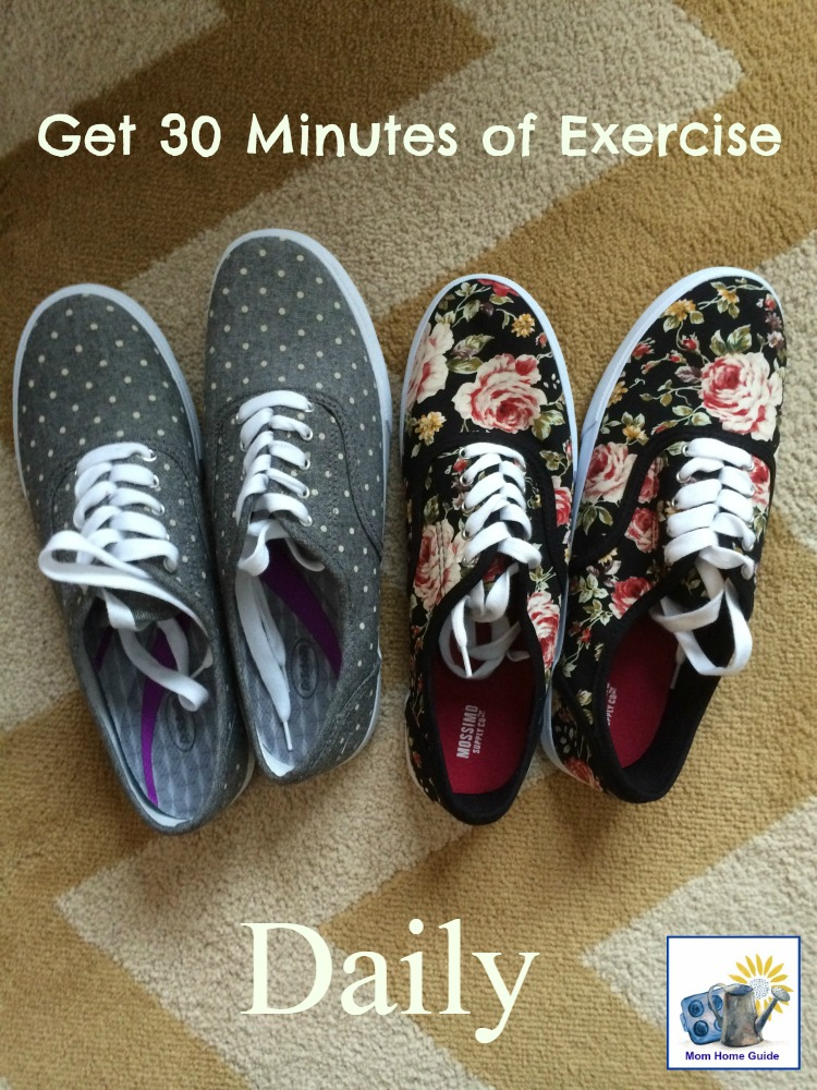 Try to get 30 minutes of exercise daily