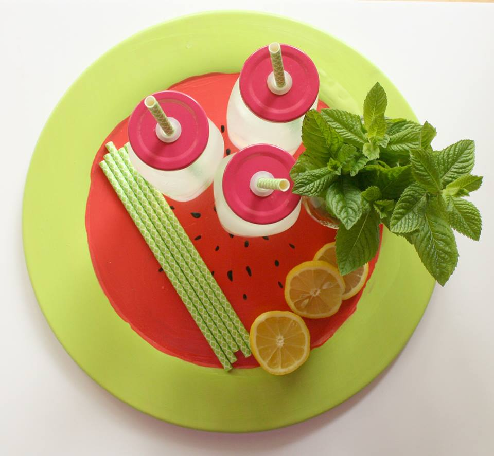 DIY Watermelon Plate