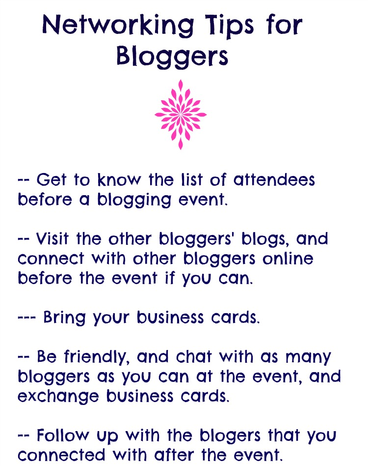 use these tips to network with other bloggers at your next blogger event!