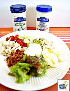 I like to use Litehouse fresh salad dressings from the refrigerated section in the produce area of my grocery store