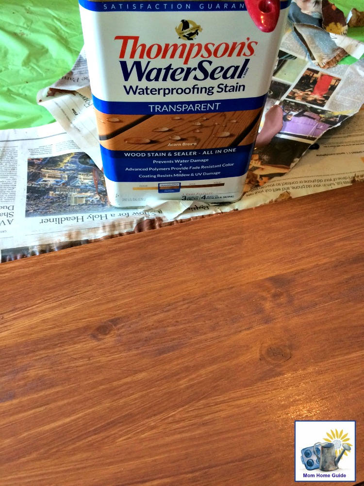 Thompson's Waterseal waterproofing stain in acorn brown is perfect for outdoor projects