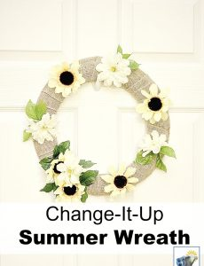 chnage-it-up seasonal summer burlap wreath with sunflowers