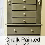 Chalk Painted Jewelry Armoire {Thrifted Item Makeover}