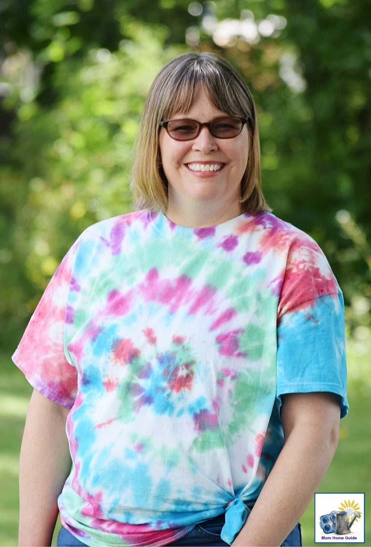 Me in one of my newly died tie dyed shirts