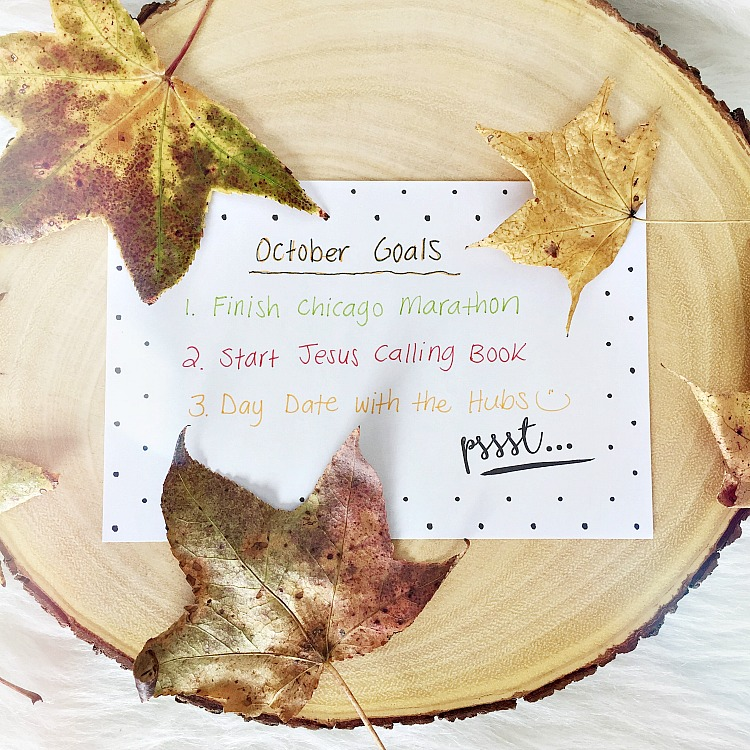 October goals from Curly Crafty Mom