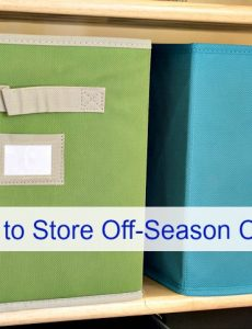 how to store off-season summer and winter clothing