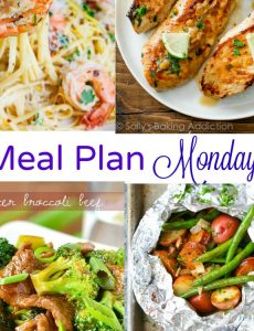 Meal Plan Monday - foil sausage packets, shrimp scampi, beef and broccoli and cilantro chicken