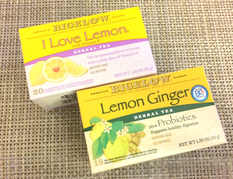 Bigelow I love Lemon and Lemon Ginger tea are both great for soothing winter ills and chills