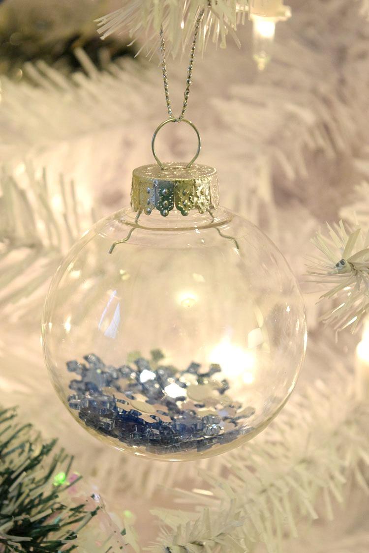 DIY filled ornament balls
