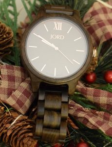 Engravable wood JORD watches make a wonderful holiday gift