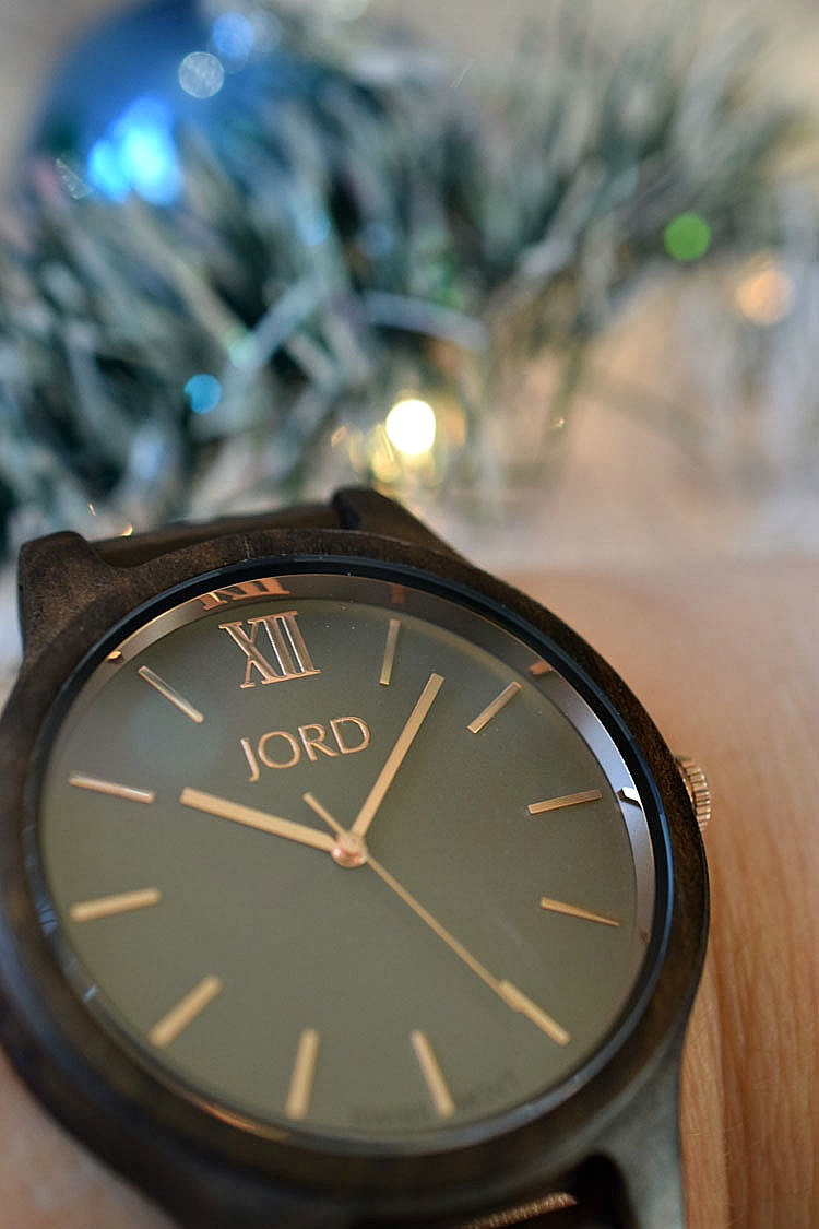 An engraved JORD wooden watch is a beautiful gift for Christmas