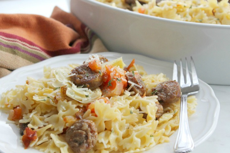 Italian sausage and artichoke pasta recipe