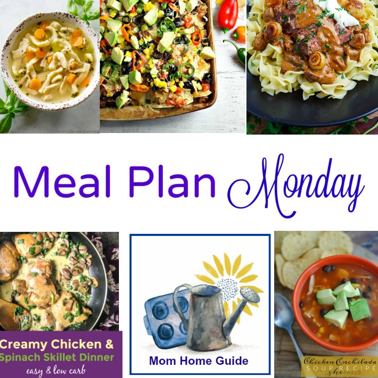 Meal Plan Monday -- five great and easy weeknight dinner recipes!