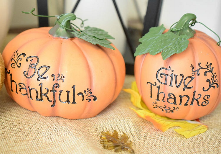 carved Thanksgiving pumpkins