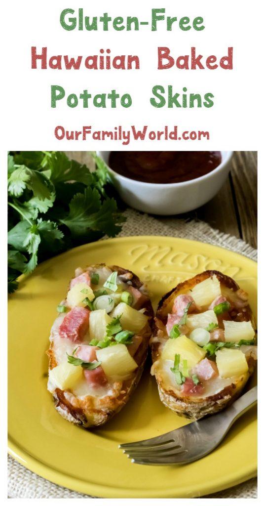 Hawaiian baked potato skins