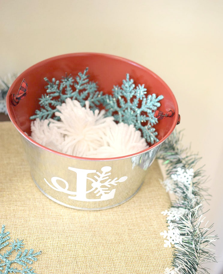 monogrammed holiday tin