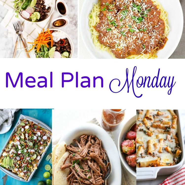 Meal Plan Monday, a collection of five great weeknight recipes