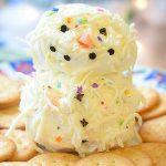 Holiday Snowman Cheese Ball Platter Recipe