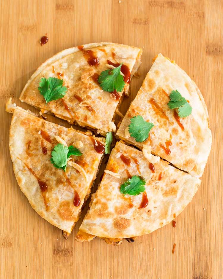 Recipe for barbecue chicken quesadillas