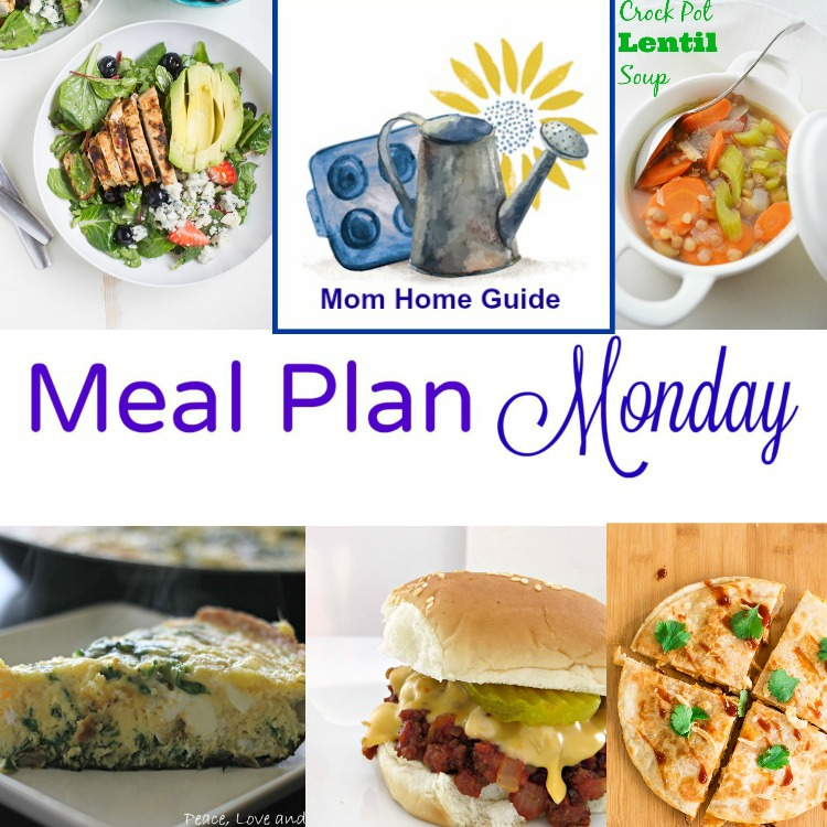 Meal Plan Monday -- 5 recipes for week night meals